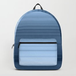 gradient , smoky, gray, blue , stripes Backpack