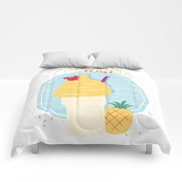 Pineapple Float (Dole Whip) Comforters