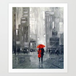 Together in new York Art Print
