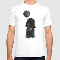 darth vader & death star! Mens Fitted Tee White X-LARGE
