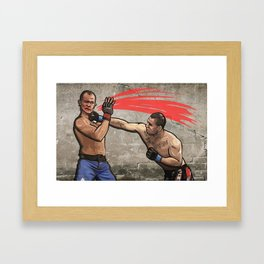 Cain Velasquez vs. Junior dos Santos Framed Art Print