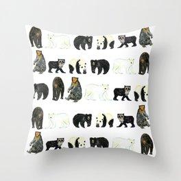 A Pattern of Bears Throw Pillow