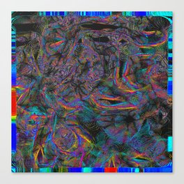 View of Everything Psychedelic Glitch Canvas Print