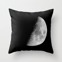dark side of the moon Throw Pillows featuring Dark Side of the Moon by CARACOIS