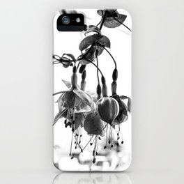 Hanging in the Garden in Black and White iPhone Case