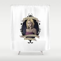 buffy Shower Curtains featuring Buffy - Buffy the Vampire Slayer by muin+staers