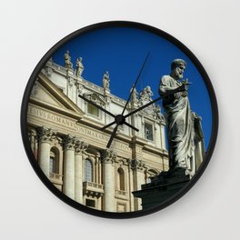 St. Peter's Basilica in Rome Wall Clock
