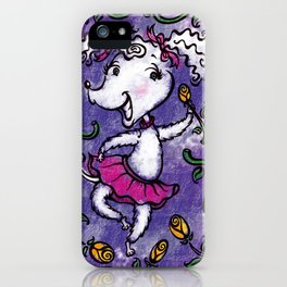 Perky Poodle iPhone Case