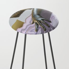 Gloves & Geodes Counter Stool