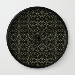 Dark Interalce Tribal Wall Clock