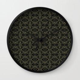Dark Interalce Tribal Wall Clock