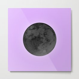 BLACK MOON + LAVENDER SKY Metal Print