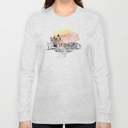 Venice. Watercolor and ink. Long Sleeve T-shirt