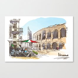 Sketches from Italy - Verona Canvas Print