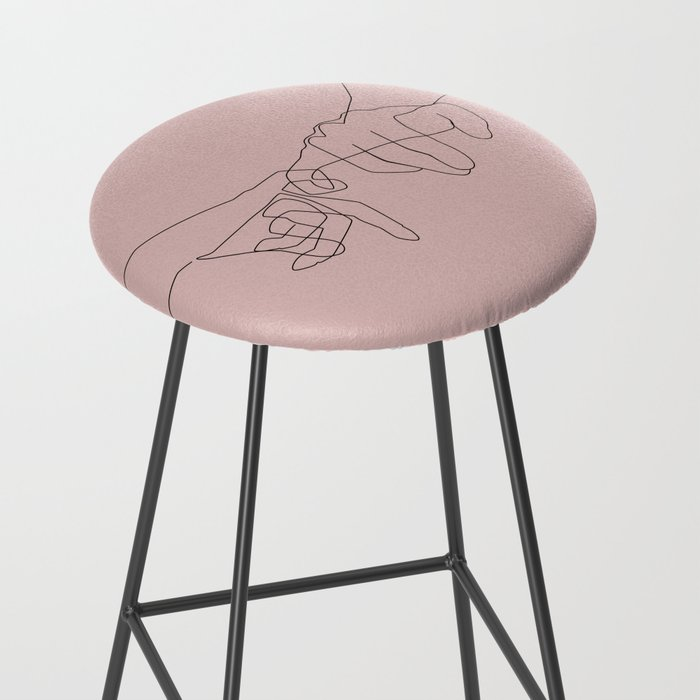 Blush Pinky Bar Stool