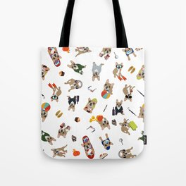 Frenchie's luxury life pattern Tote Bag