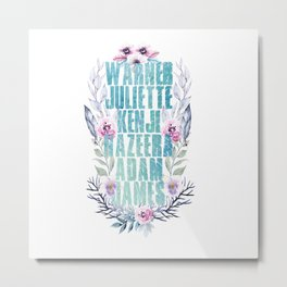 shatter me characters v1 Metal Print