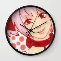 madoka Wall Clocks featuring Madoka Pink by The Art of Leena Cruz :)