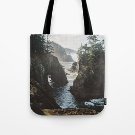 Misty Oregon Coast Tote Bag
