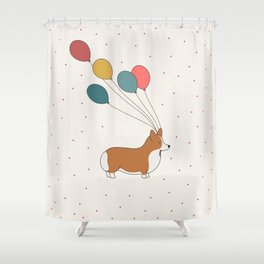 HAPPY NEW YEAR CORGI Shower Curtain