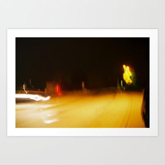 Yellow Lights Art Print
