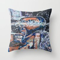 angels Throw Pillows featuring Angels by Prime Vice