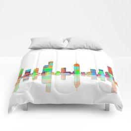 Melbourne Skyline 1 Comforters