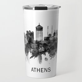Athens Greece Skyline BW Travel Mug