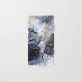 Calm but Dramatic Light Monochromatic Black & Grey Abstract Hand & Bath Towel