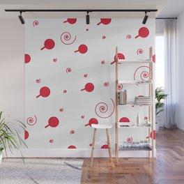 Confetti. Seamless cartoon pattern Wall Mural