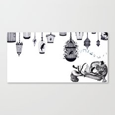 The Nightingale and the Emperor Canvas Print