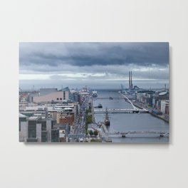 Samuel Beckett bridge aerial view Metal Print
