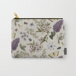 spring flowers with butterfly and beetles II Carry-All Pouch