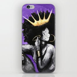 Naturally Queen VI PURPLE iPhone Skin