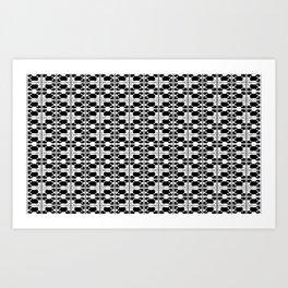 BW-pattern 3 Art Print