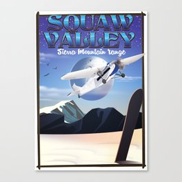 squaw valley USA Travel poster Canvas Print
