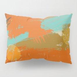 Secret Places, Abstract Landscape Art Pillow Sham