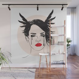 Lana and Her Red Lips - Musically Digital Fan Art Wall Mural