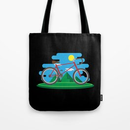 Cycling Forever | Bicycle Enthusiast Tote Bag