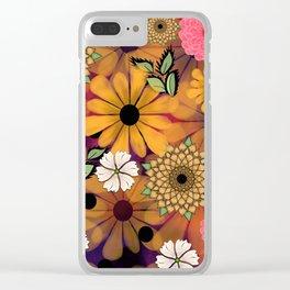Flower Garden Splash Clear iPhone Case