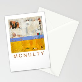 Amenity Abstract Landscape Yellow Modern Shawn McNulty Stationery Cards