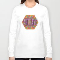 seashell Long Sleeve T-shirts featuring Psychedelic Seashell by Lachlan Willis