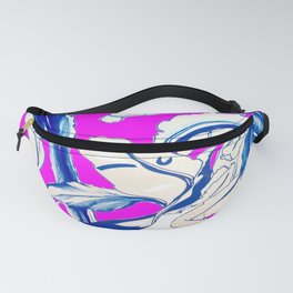 Plant in Blue Marker - Leaf of Life Miracle Leaf - FUCHSIA! Purple? Pink? Fanny Pack