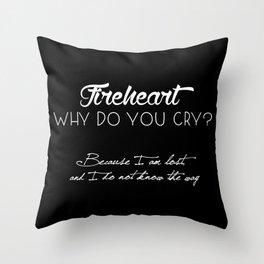 fireheart Throw Pillow