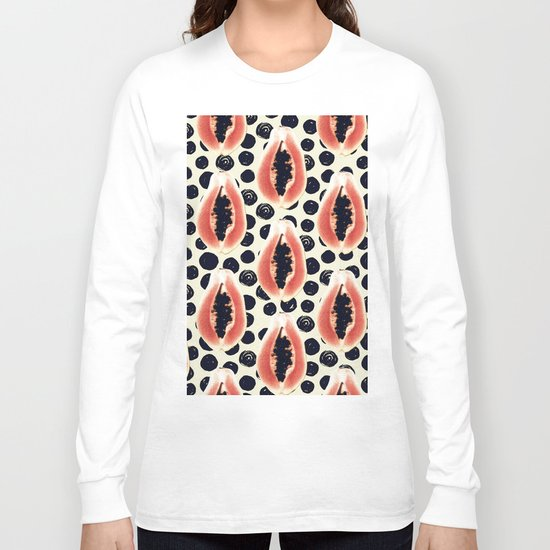 papaya pattern Long Sleeve T-shirt