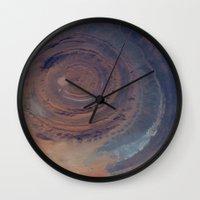 nasa Wall Clocks featuring eye in the sky, eye in the desert (nasa #01) by _mackinac