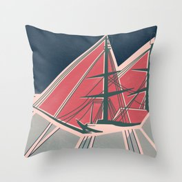 Terror in the Ice Throw Pillow