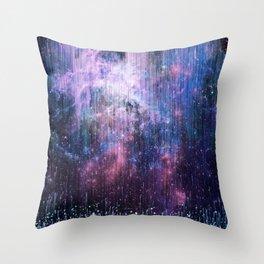 Blue Stardust Throw Pillow