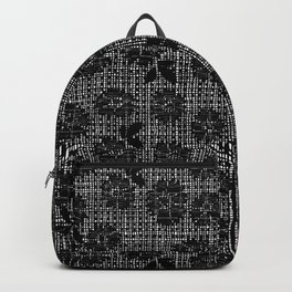 Floral Lace - Black Backpack