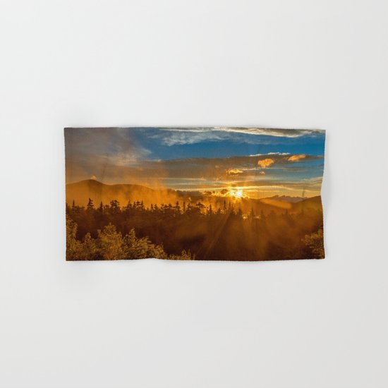 Misty Gold Mountain Sunset Hand & Bath Towel